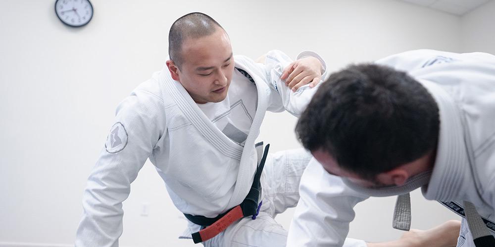 lutar jiu jitsu